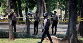 انفجار قرب ساحة النصب التذكاري بإندونيسيا قرب قصر الرئاسة