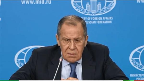 : بث مباشر.. مؤتمر صحفي لوزير الخارجية الروسي