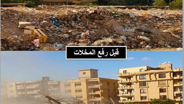 : الجيزة: رفع 1500 طن مخلفات بهضبة الأهرام
