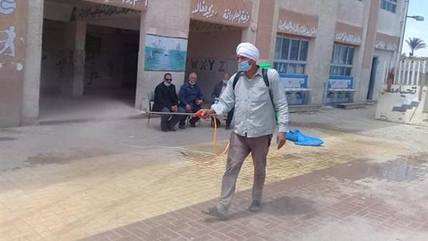 : نقابة معلمي ناصر ببني سويف تواصل تعقيم المدارس والمصالح الحكومية