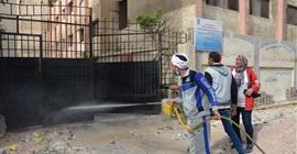 نائب محافظ الإسكندرية تتابع أعمال التطهير والتعقيم بالمصالح الحكومية