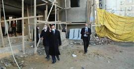 محافظ كفر الشيخ يتفقد أعمال إنشاء مبنى الدرجات بالمستشفى العام