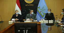 """محافظ كفر الشيخ يناقش مبادرة """"حياة كريمة"""" لتطوير 205 قرى بمطوبس"""