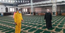 حملة لتعقيم مساجد الجيزة استعدادًا لشهر رمضان