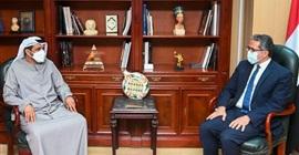 وزير السياحة يستقبل سفير الإمارات