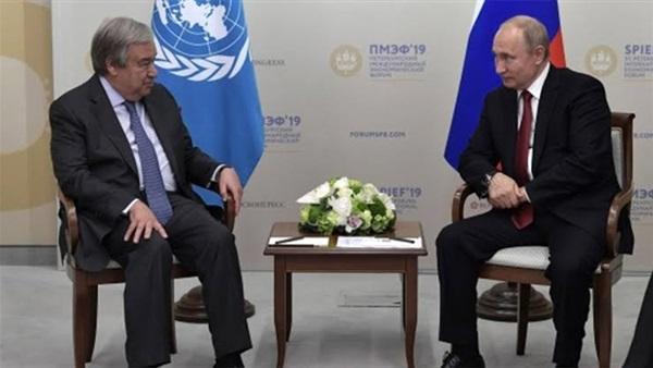 بوتين وجوتيريش يؤيدان حل الدولتين لإنهاء النزاع الفلسطيني الإسرائيلي