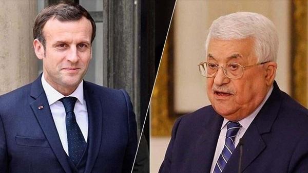 عباس وماكرون يبحثان تطورات الأوضاع في الأراضي الفلسطينية